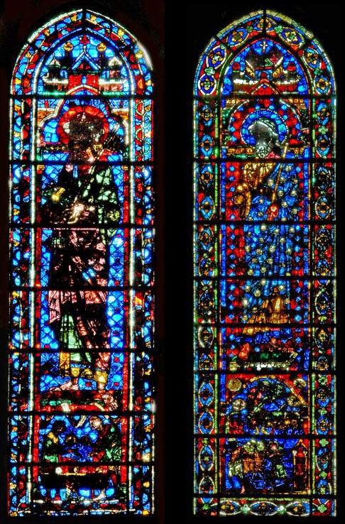 Lancet windows of Saint Peter and Saint James